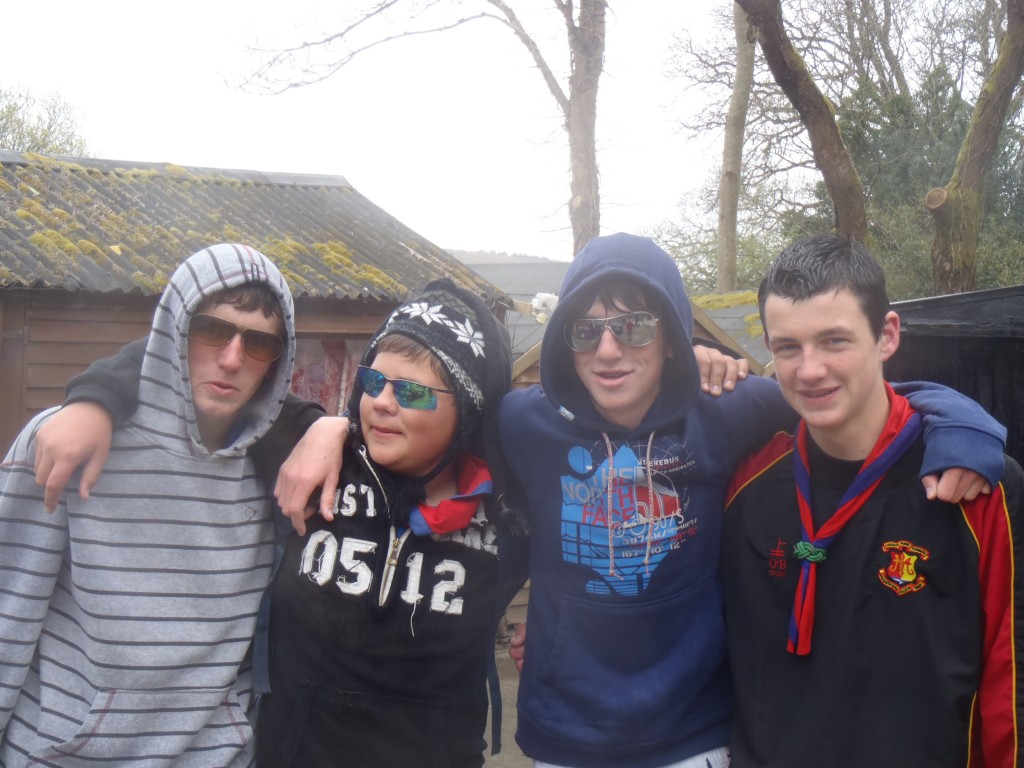 Some of the 5th wicklow Scouts on Splash Down 2010