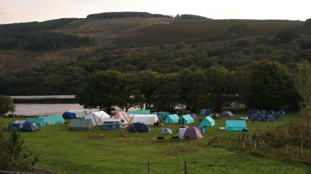 Summer Camp in the Lake Field